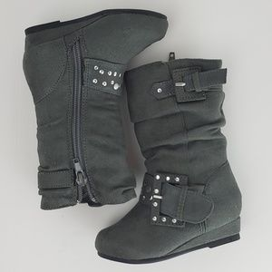 Other - Gray Faux Suede Children's boots